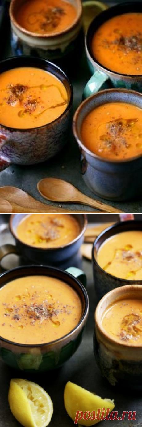 Морковный суп с белой фасолью(Постный)