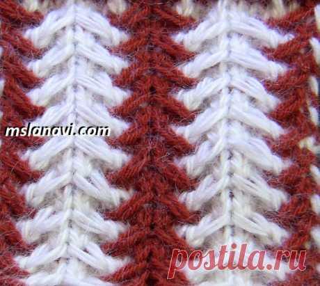 Рельефный узор спицами №124 | Вяжем с Лана Ви