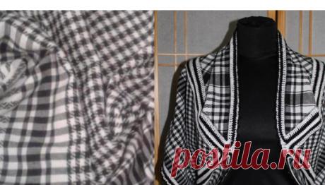 Мастерица достала старый черно-белый платок и сделала нечто новое