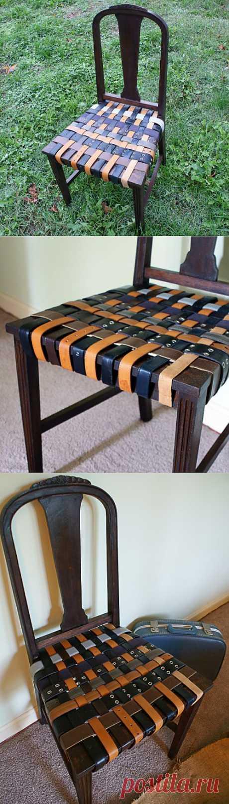 Ремни: ремонт стула (DIY) / Мебель / Модный сайт о стильной переделке одежды и интерьера