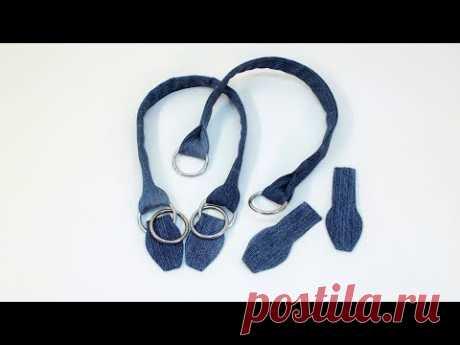 "Ручки и петли для джинсовой сумки. YouTube: DJ Williams ""Dusty Fingers"""