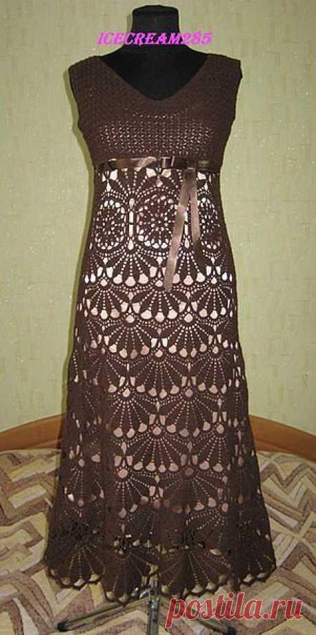 """El vestido """" el humor De chocolate """"."""