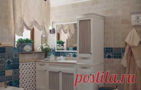 Ванная в стиле прованс: дизайн и фото интерьеров