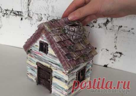 Как сделать домик из бумаги и картона В этом видео простая идея, как сделать домик из бумаги своими руками.Такие домики могут быть светильниками (ночниками), чайными домиками, а я решила применить его для арома палочки.Для создания домика...