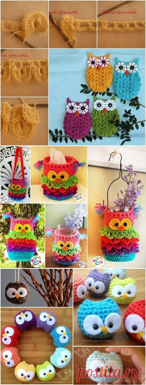 Очаровательные совы, вязаные крючком — Сделай сам, идеи для творчества - DIY Ideas