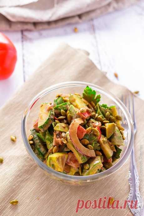 Простой салат с авокадо - Кулинарные заметки Алексея Онегина