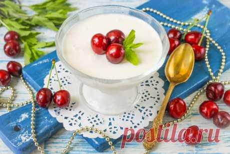 Сметанный десерт из сметаны рецепт с фото пошагово - 1000.menu