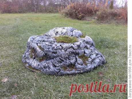 Декоративный камень для сада своими руками - легко и красиво!