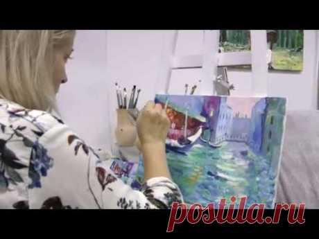 Рисуем картины маслом поэтапно на мастер-классе в студии