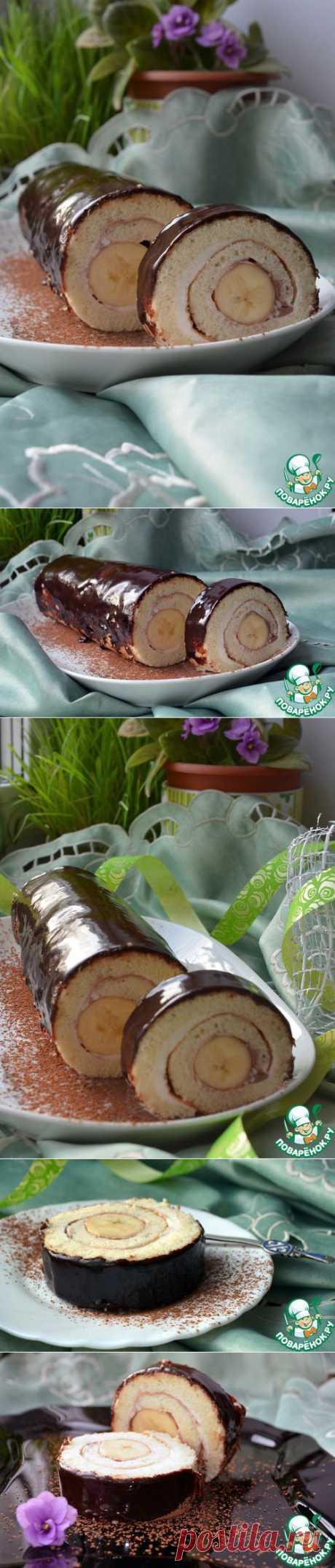 """Рулет """"Банан в шоколаде"""" - кулинарный рецепт"""