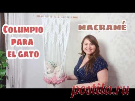 Columpio para el gato de Macramé