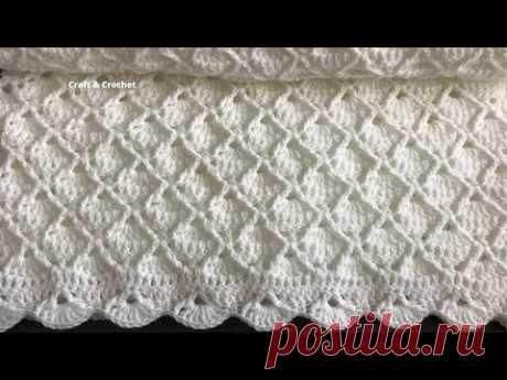 Легкое вязаное детское одеяло / вязаное одеяло