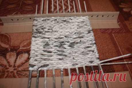 Плетение квадратного дна из газетных трубочек. МК | oblacco
