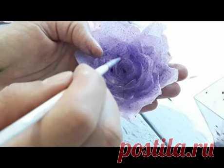 Вафельные цветы. Роза из вафельной бумаги