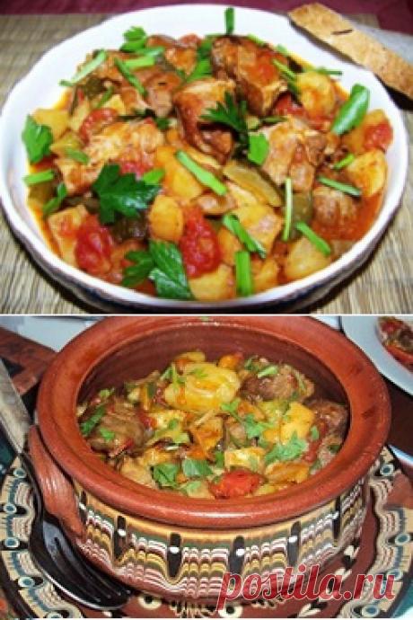 Азу по-татарски с солеными огурцами - рецепты с говядиной, свининой и в горшочках