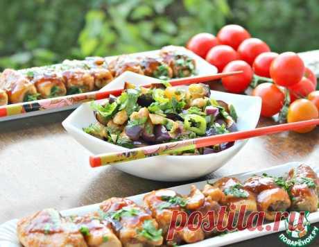 """Салат из баклажанов и рулетики """"Восток"""" – кулинарный рецепт"""
