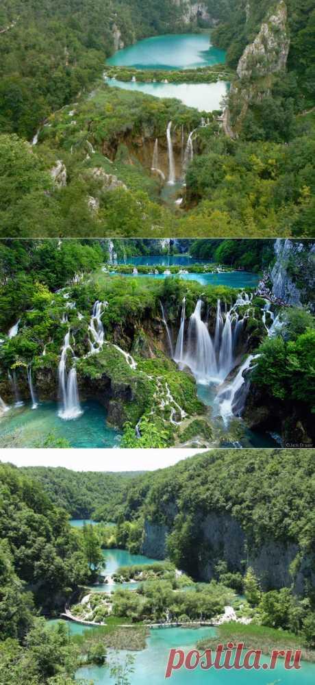 """Национальный парк """"Плитвицкие озера""""  Хорватия"""