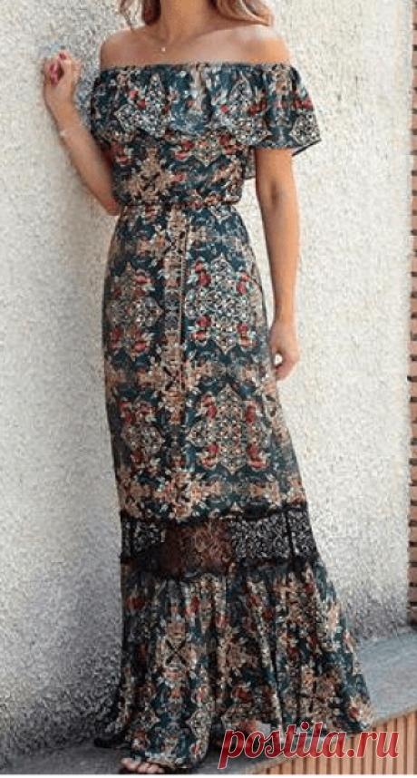 Длинное платье ciganinha с жабо - DIY - прессформа, вырезывание и шить - Марлен Mukai