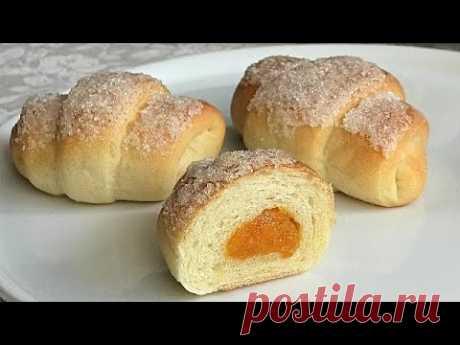 👍😊🥰Вкуснее чем пирожки, постные рогалики с курагой/Lean bagels with dried apricots
