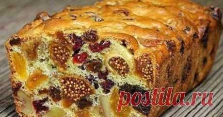 """Десерт, который можно готовить хоть каждый день — кекс «Ореховая мазурка» с сухофруктами - Женский журнал """"Красота и здоровье"""""""