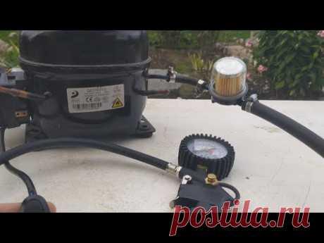 СРОЧНО сделайте себе КОМПРЕССОР для накачки колес из старого компрессора от холодильника.