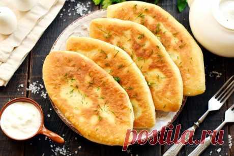 Жареные пирожки Лапти с картошкой - рецепт с фото