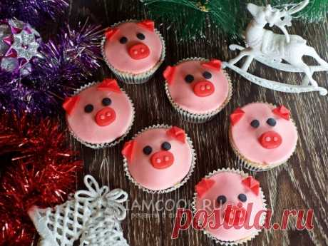 Маффины «Свинки» — рецепт с фото Праздничные маффины. Мягкие и нежные, шоколадные и вкусные. Отличная выпечка для новогоднего стола 2019 года (встречаем Новый год Свиньи).