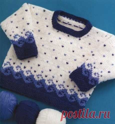 """Jacquard pullover of \""""Wave\"""""""