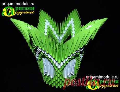 Оригами ваза схема