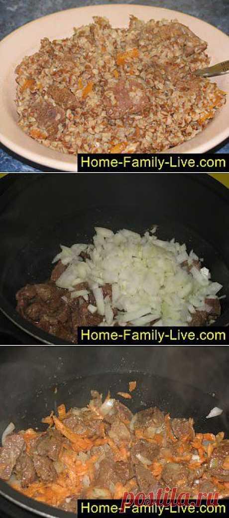 Кулинарные рецепты Гречка с мясом в мультиварке