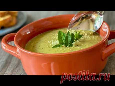 Удивительный рецепт. Суп из кабачков получается быстро и легко.