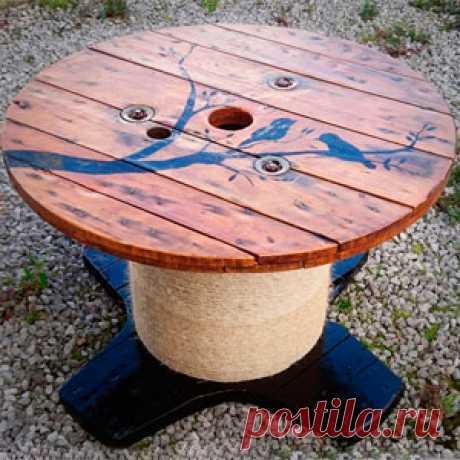 Стол из катушки для кабеля: пошаговое изготовление фото Как сделать стол своими руками из катушки для кабеля: фото пошагового изготовления стола. Казалось бы, что можно сделать из обычной катушки от кабеля?