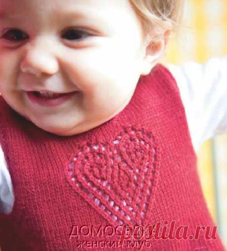 Вязаное платье для малышки | ДОМОСЕДКА