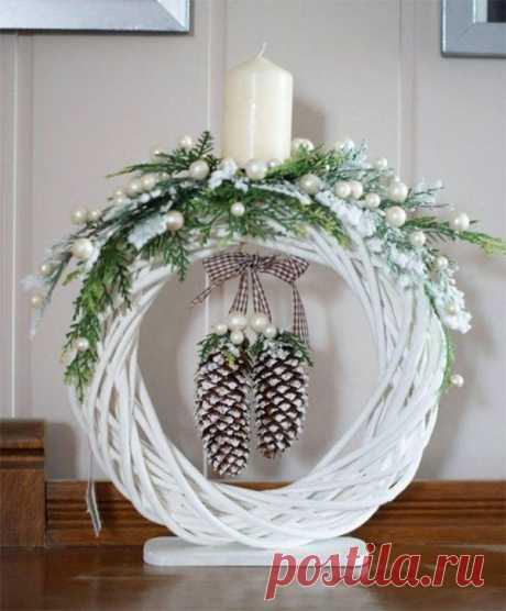 Новогодний декор свечей из простых и доступных материалов