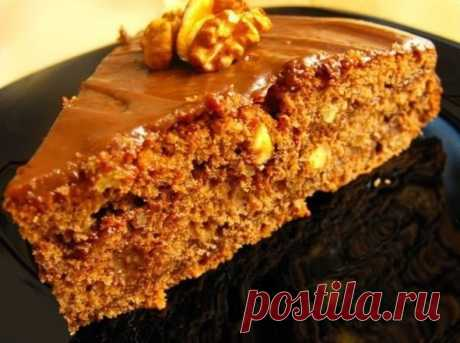 Тортик без выпечки    Ингредиенты: -300 гр. слив. масла, -300 гр. печенья, -1 стак. орехов, -0,5 стак. сахара, -1 банка сгущёного молока, -4 ст.л. какао, -200 гр. шоколада