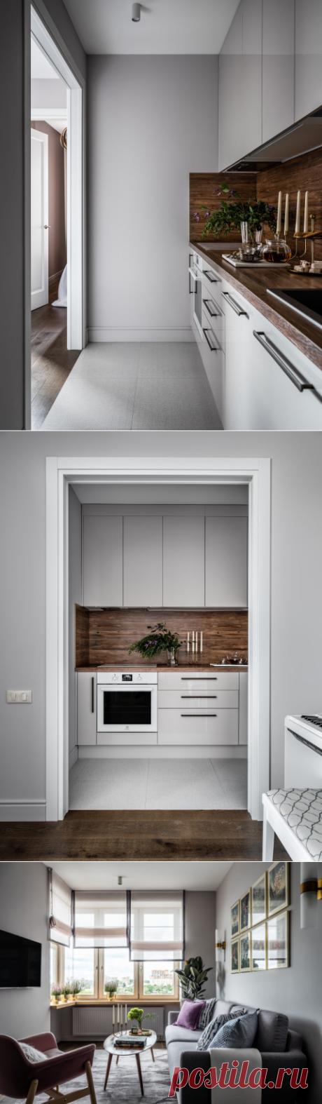 Планировка и дизайн однокомнатной квартиры 43 кв м для молодой девушки – 4 варианта | Houzz Россия