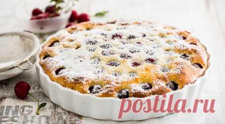 Французский клафути с вишней. Пошаговый рецепт с фото на Gastronom.ru