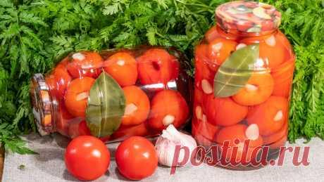 Маринованные, сладкие помидоры на долгую зиму с чесноком и луком – простой рецепт заготовки без стерилизации! | Найди Свой Рецепт | Яндекс Дзен