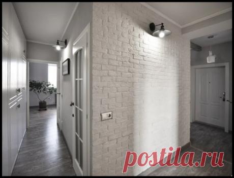 Сделала своими руками кирпичную стену за 300 рублей - даже муж был в восторге!