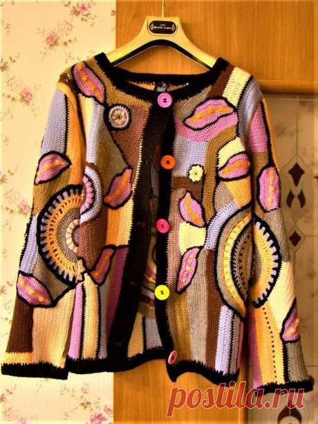 Beautiful Fashion Bright Colorful Cardigan Freeform Style | Etsy