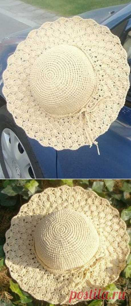 Вязаная летняя шляпа