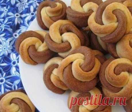 Печенье «Цветочки». Рецепт с пошаговыми    Домохозяйка