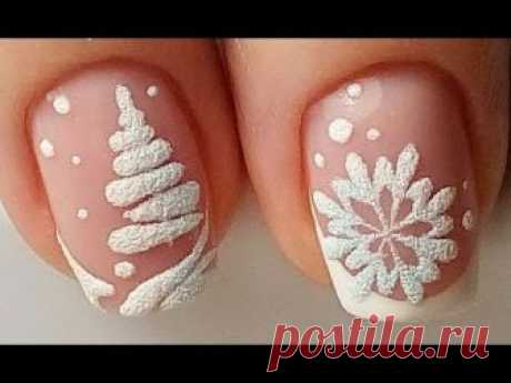 18 New Year Nail Art Designs 2019 | Best Christmas Nail Tutorials | Arte de uñas de navidad #47