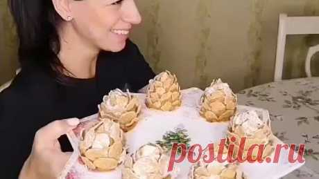Вкусные новогодние шишки