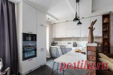 Трехкомнатная квартира, 80 м2 Дизайн: Дарья Авдеенко Смотреть полностью: