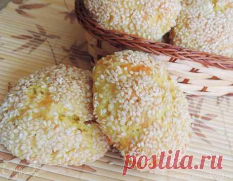 Творожно-сырные булочки (без дрожжей), рецепт с ингредиентами: мука, творог, сметана