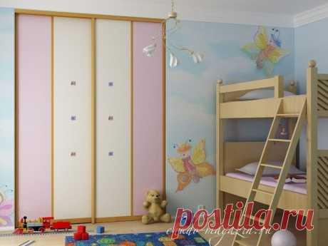 Встроенный шкаф-купе для детской комнаты под заказ в Москве: фото, идеи, оформление, замер.