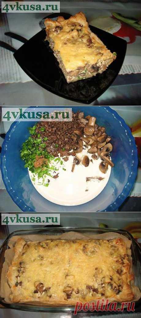Итальянский пирог с фаршем, грибами и сливками. Фоторецепт. | 4vkusa.ru