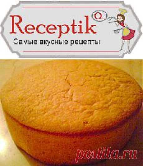 Нежный бисквит (без яиц!) » Рецептико