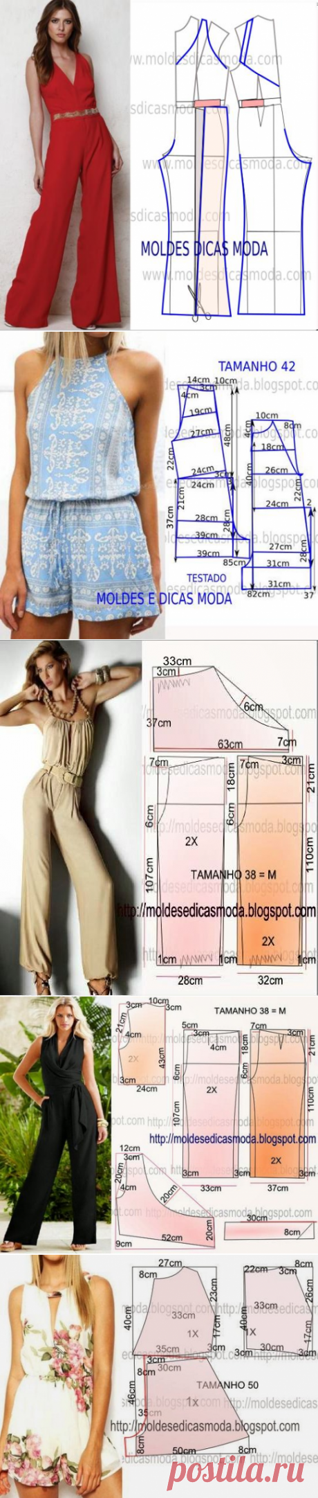 Women's overalls: patterns and description of tailoring   Lady